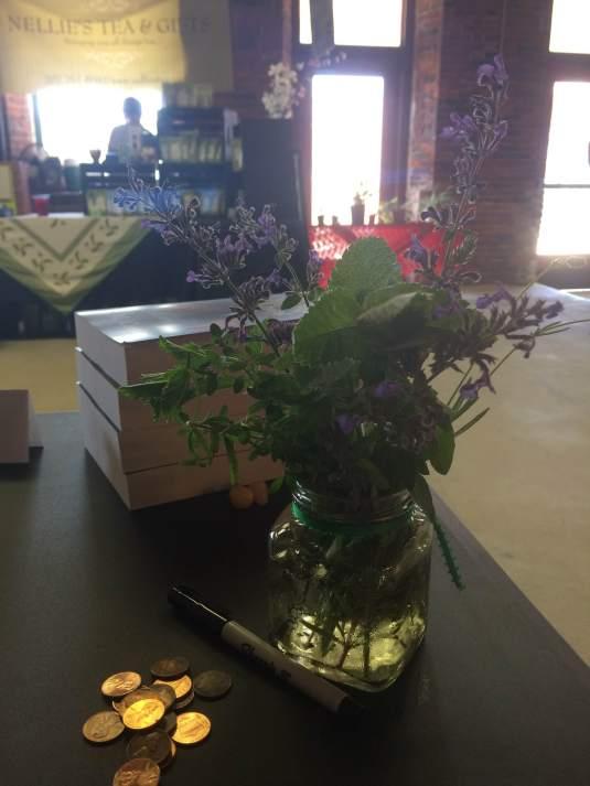 herb flower jar