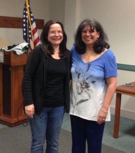 Me and Kathy at Falmouth Library